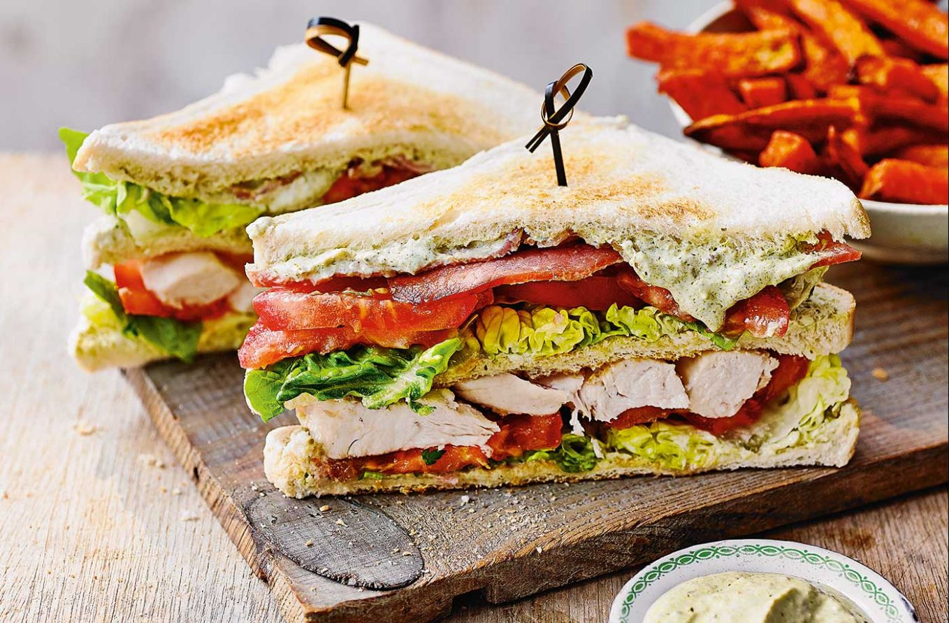Pesto club sandwiches - Sandwich Recipes With Ingredients And Procedure