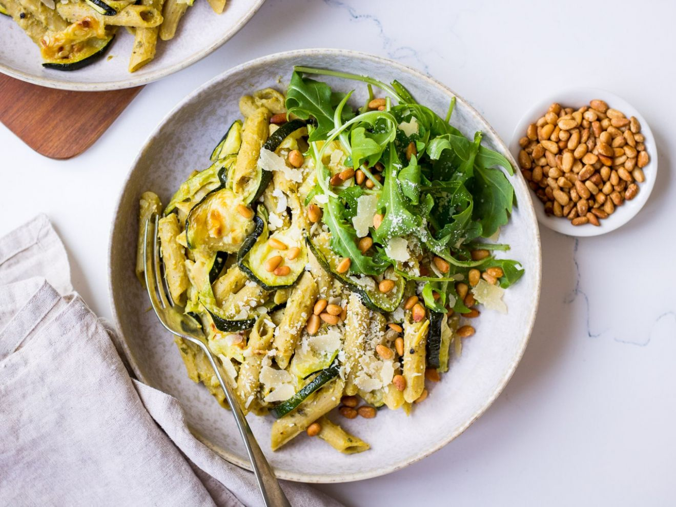 Pesto Pulse Pasta with Roasted Zucchini | Nourish Every Day - Cooking Zucchini Pasta In Oven