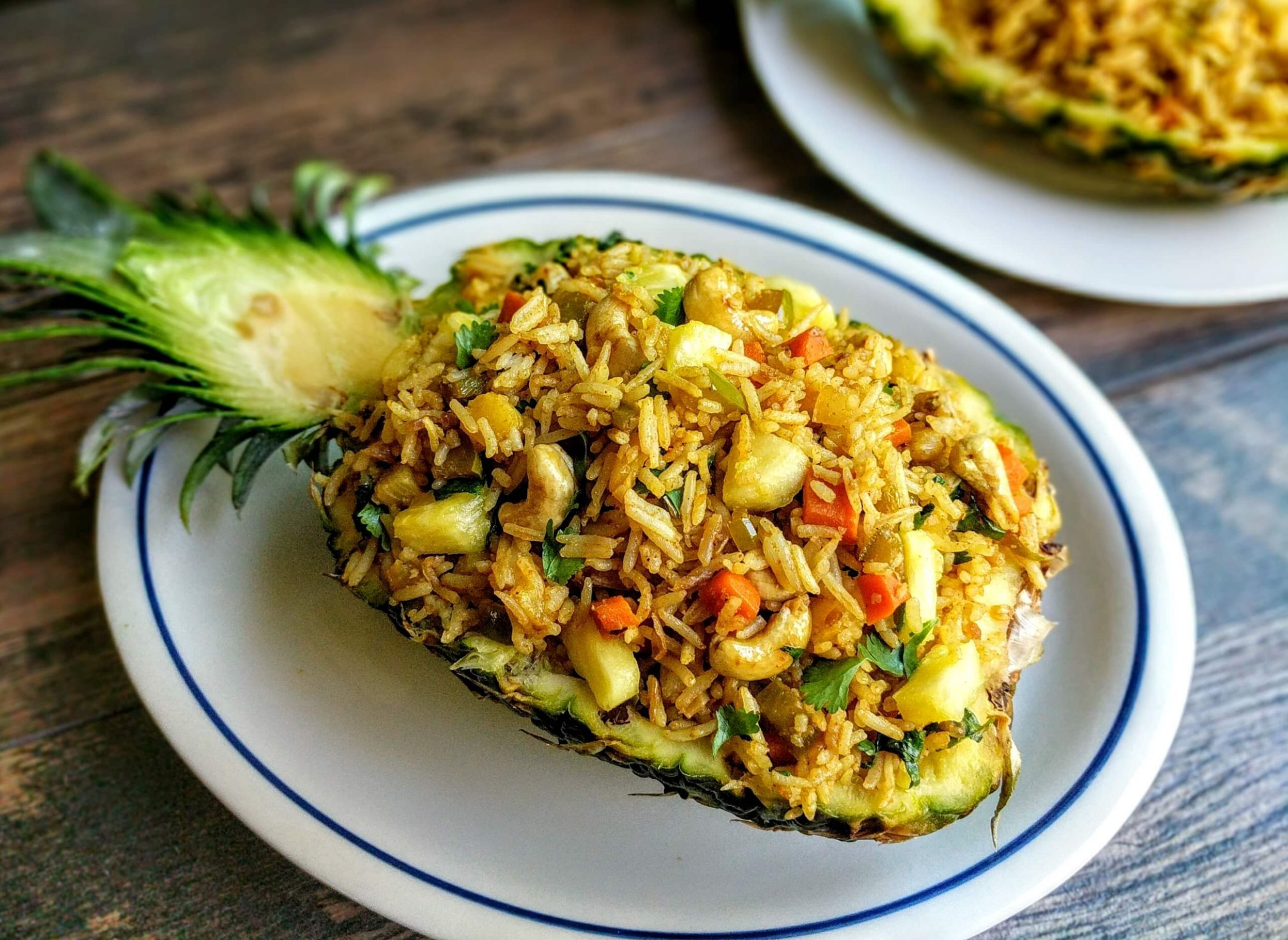 Pineapple Fried Rice Recipe (Thai Veg Fried Rice) | VegeCravings - Recipes Rice With Pineapple