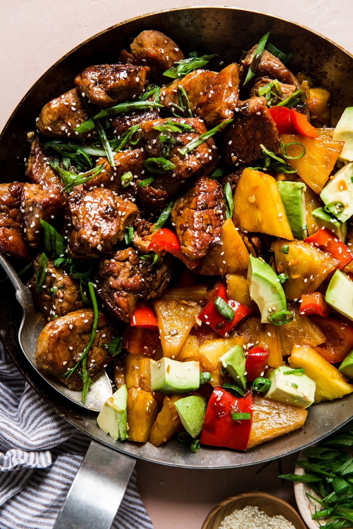 Pineapple Pork Stir-Fry with Peppers Recipe - Recipe Pork With Pineapple