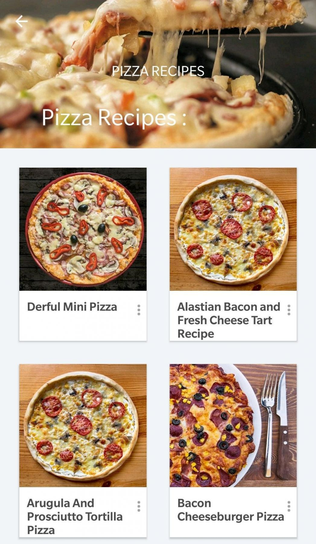 Pizza Recipes Offline for Android - APK Download - Pizza Recipes Download