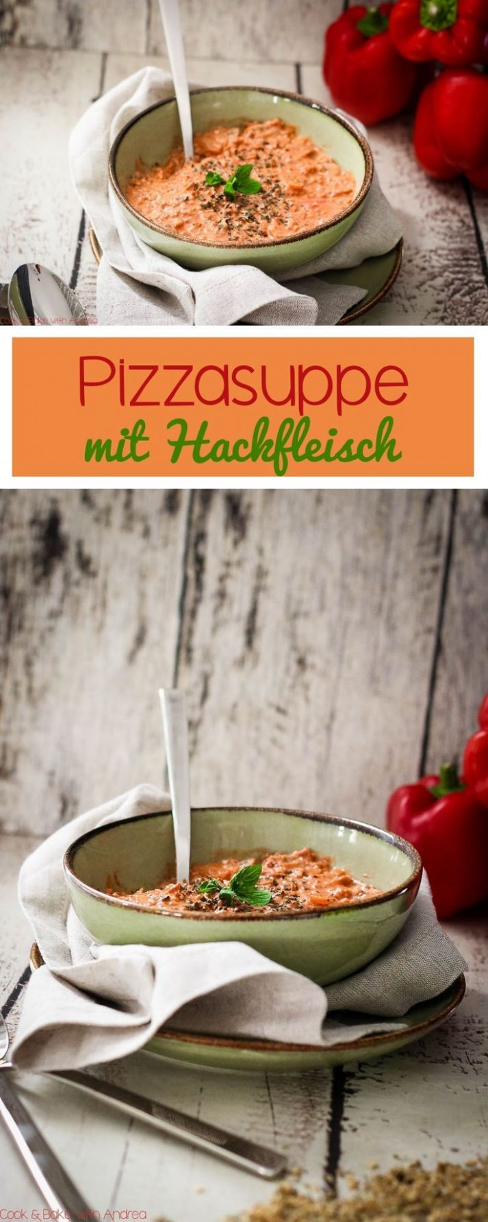 Pizza soup with minced meat - My Pinterest Cookbook | Pizzasuppe ...
