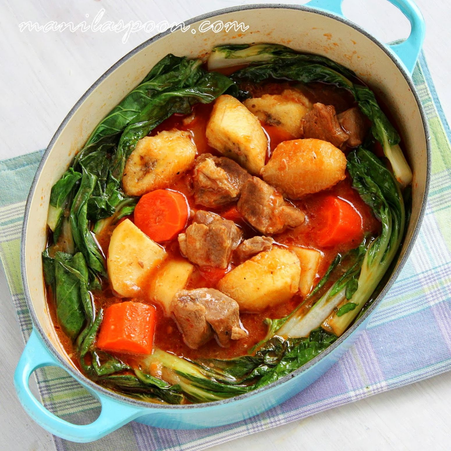 Pochero (Pork/Beef Stew with Saba/Burro Bananas) - Manila Spoon - Recipe Pork Pochero