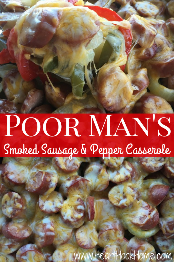 Poor Man's Smoked Sausage and Pepper Casserole Recipe