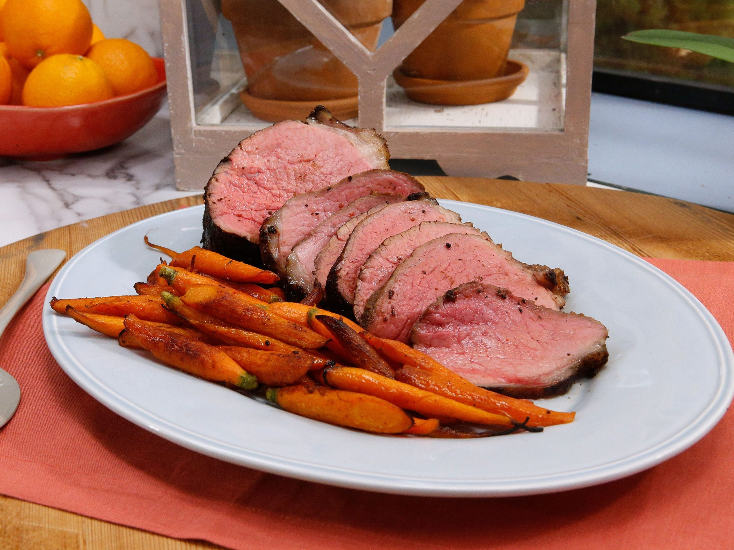 Porcini-Rubbed Roast Beef - Summer Recipes For Roast Beef