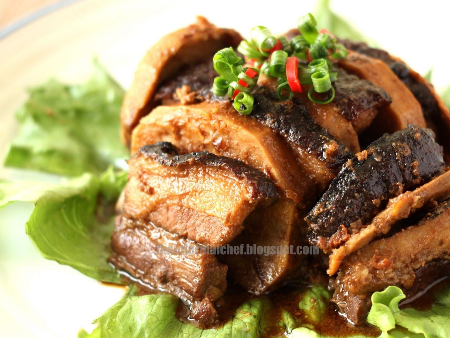 Pork Belly with Taro (Yam) / Wu Tau Kau Yoke 芋頭扣肉 | Pork belly ...