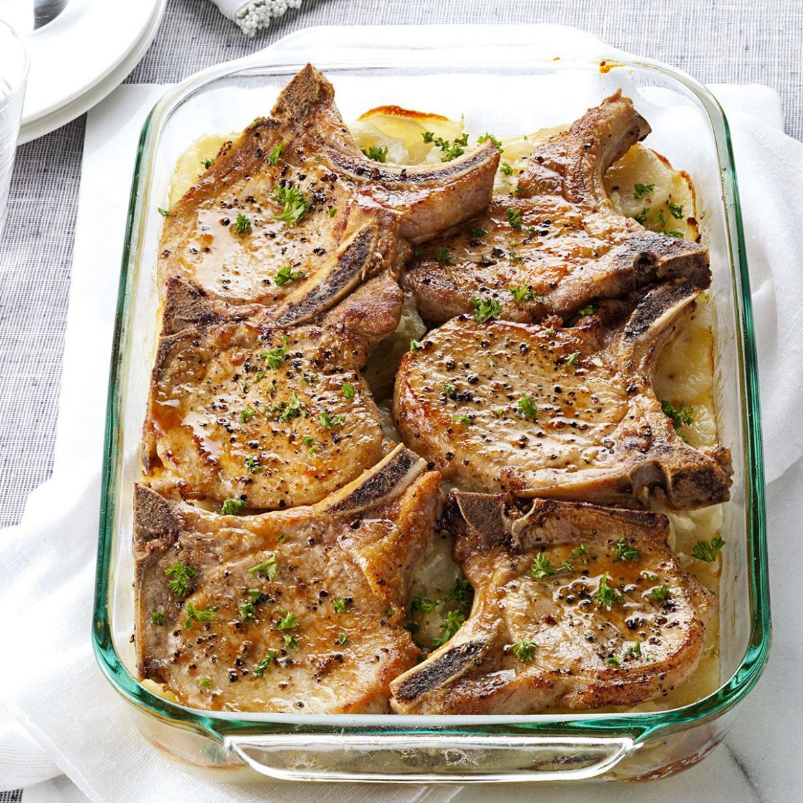 Pork Chops with Scalloped Potatoes - Pork Recipes In Oven