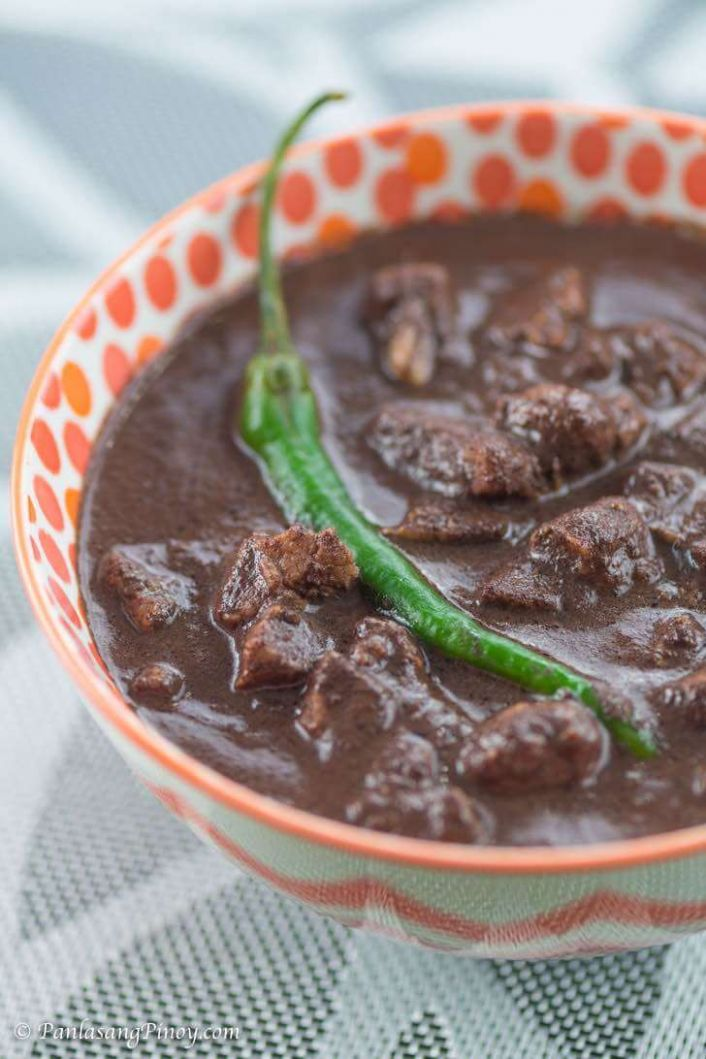 Pork Dinuguan sa Gata Recipe - Panlasang Pinoy - Recipe Pork Dinuguan