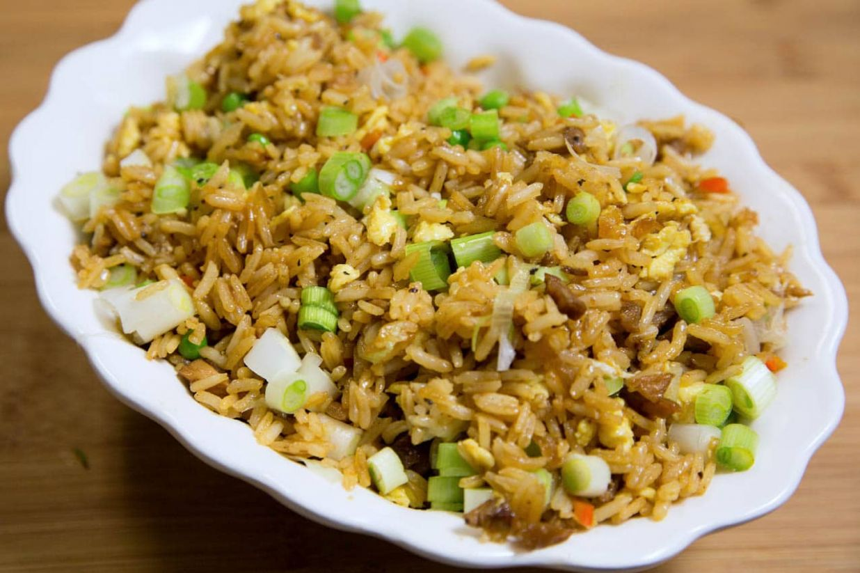 Pork Fried Rice and Chinese Barbecued Pork - Recipe Pork Fried Rice Chinese