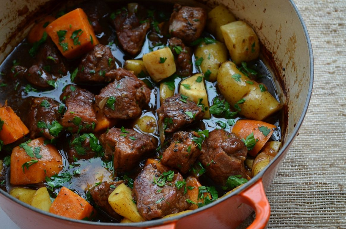 Pork Stew with Balsamic and Beer - Recipes Using Pork Stew Meat