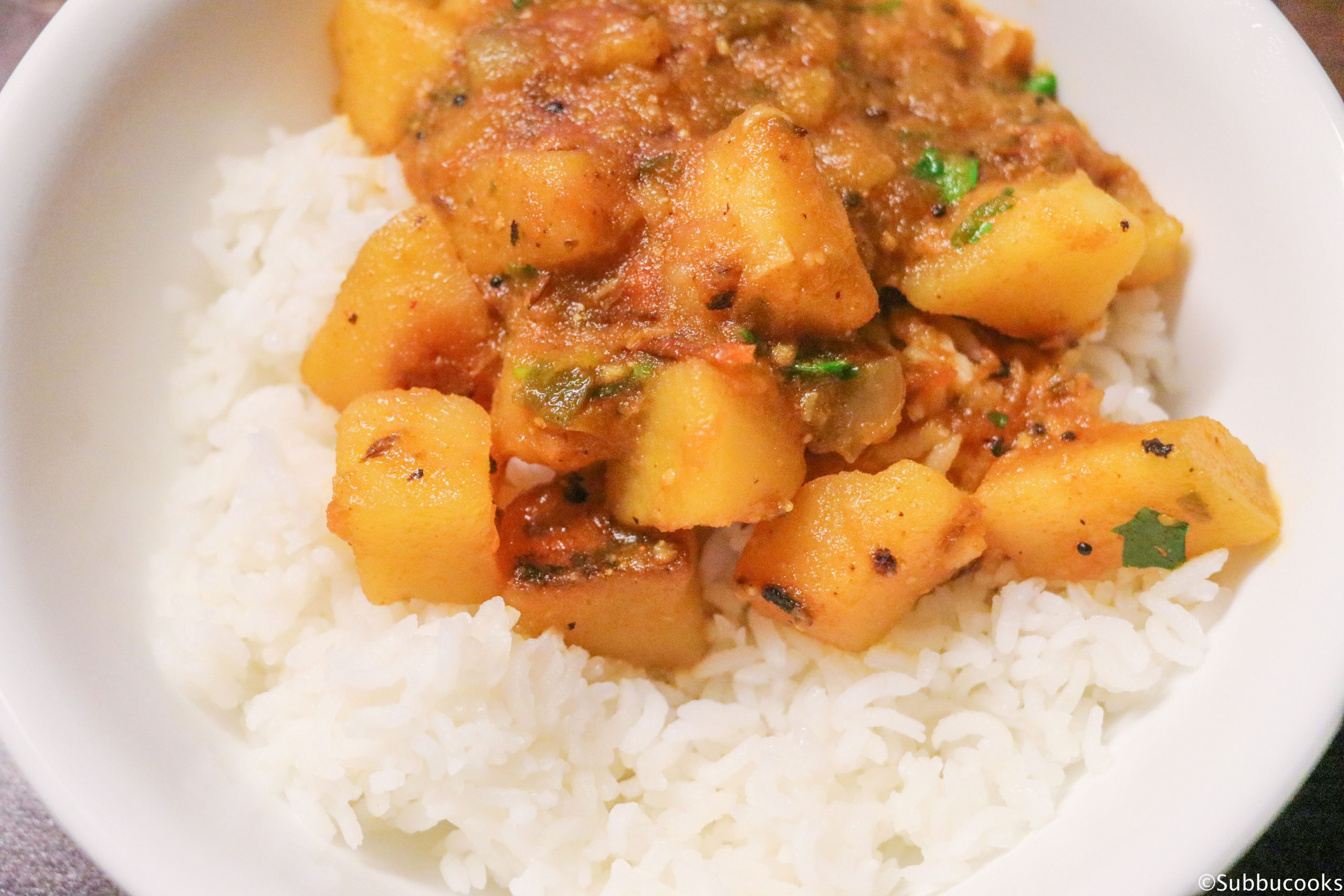 Pot in Pot cooking - Potato curry and Rice