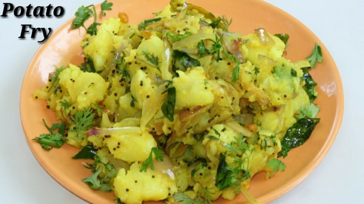 Potato Fry Recipe in Kannada | ಆಲೂಗಡ್ಡೆ ಪಲ್ಯ | Aloogadde palya recipe in  Kannada | Rekha Aduge - Potato Recipes In Kannada