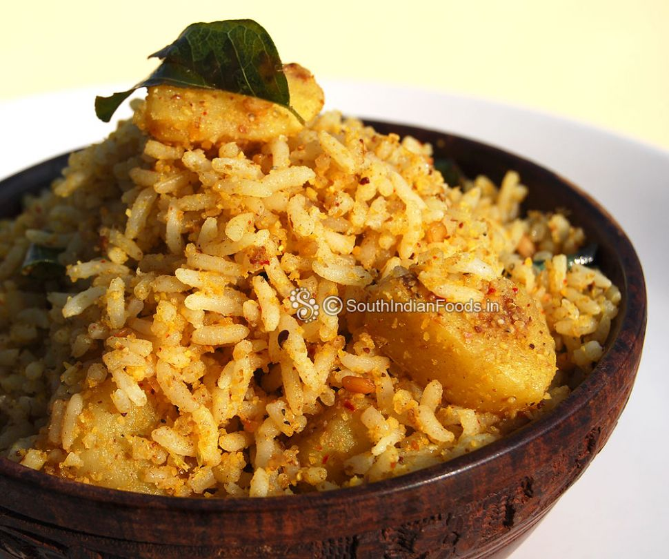 Potato rice | Urulai kizhangu sadam-How to make-Step by step ...