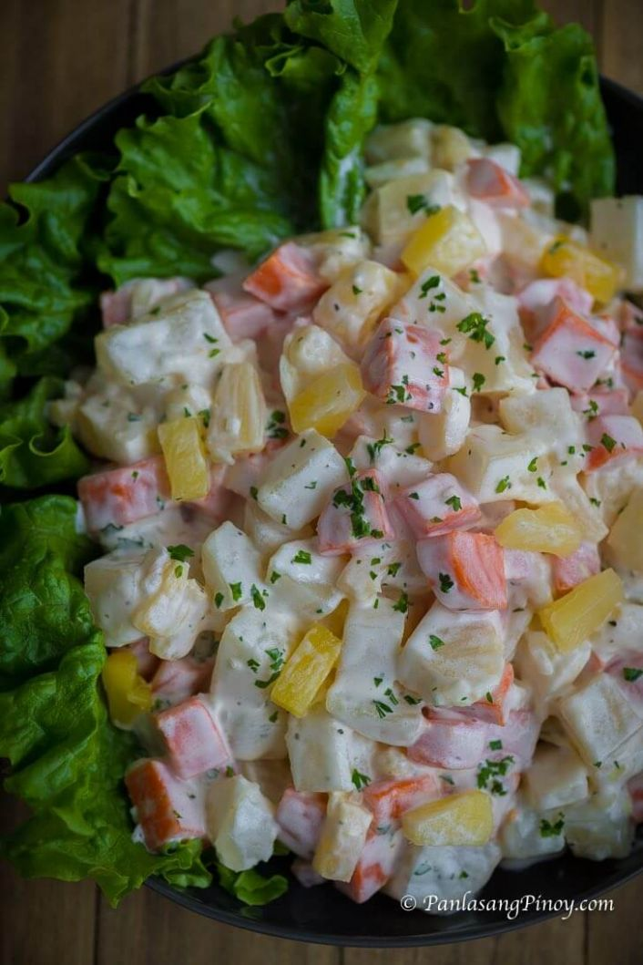 Potato Salad with Carrots and Pineapple