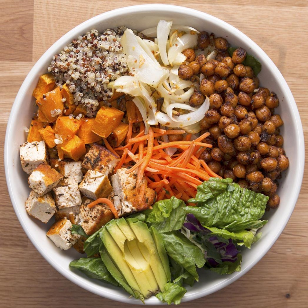 Protein-Packed Buddha Bowl Recipe by Tasty - Recipes Vegetarian High Protein