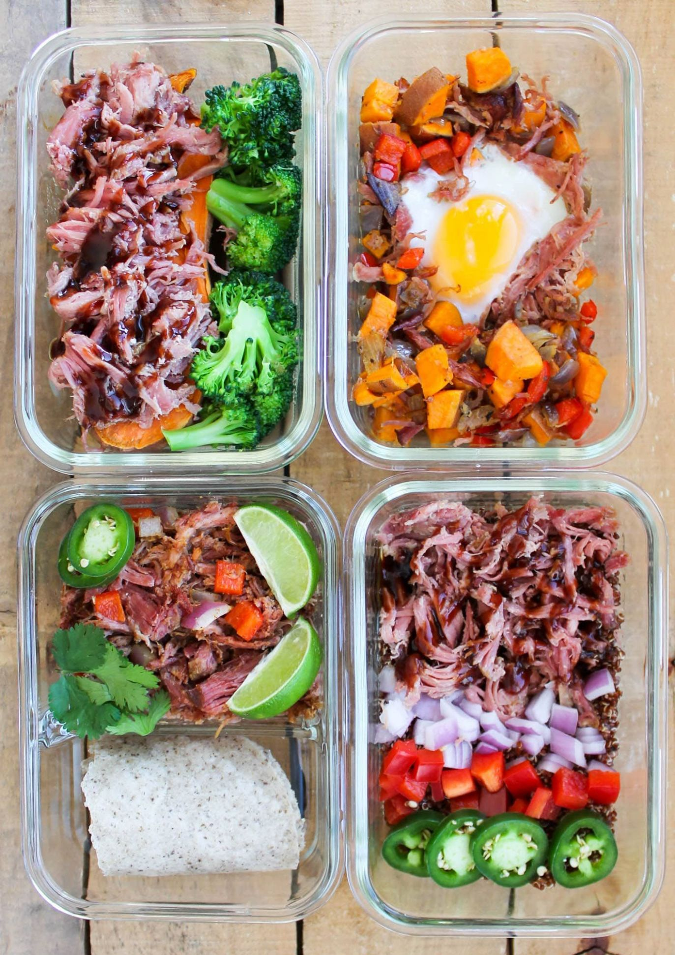 Pulled Pork Meal Prep Bowls: 12 Ways - Simple Recipes Meal Prep
