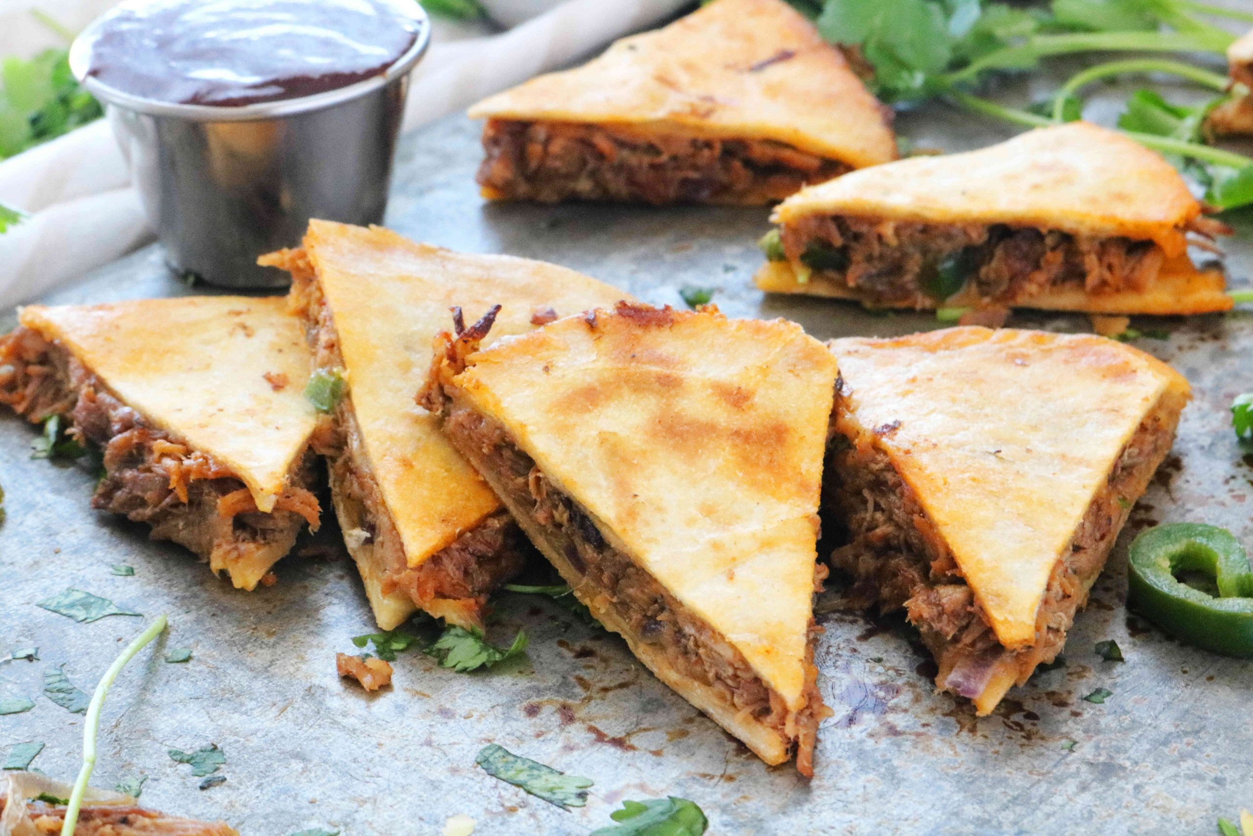 Pulled Pork Quesadillas - Recipe Pork Quesadillas