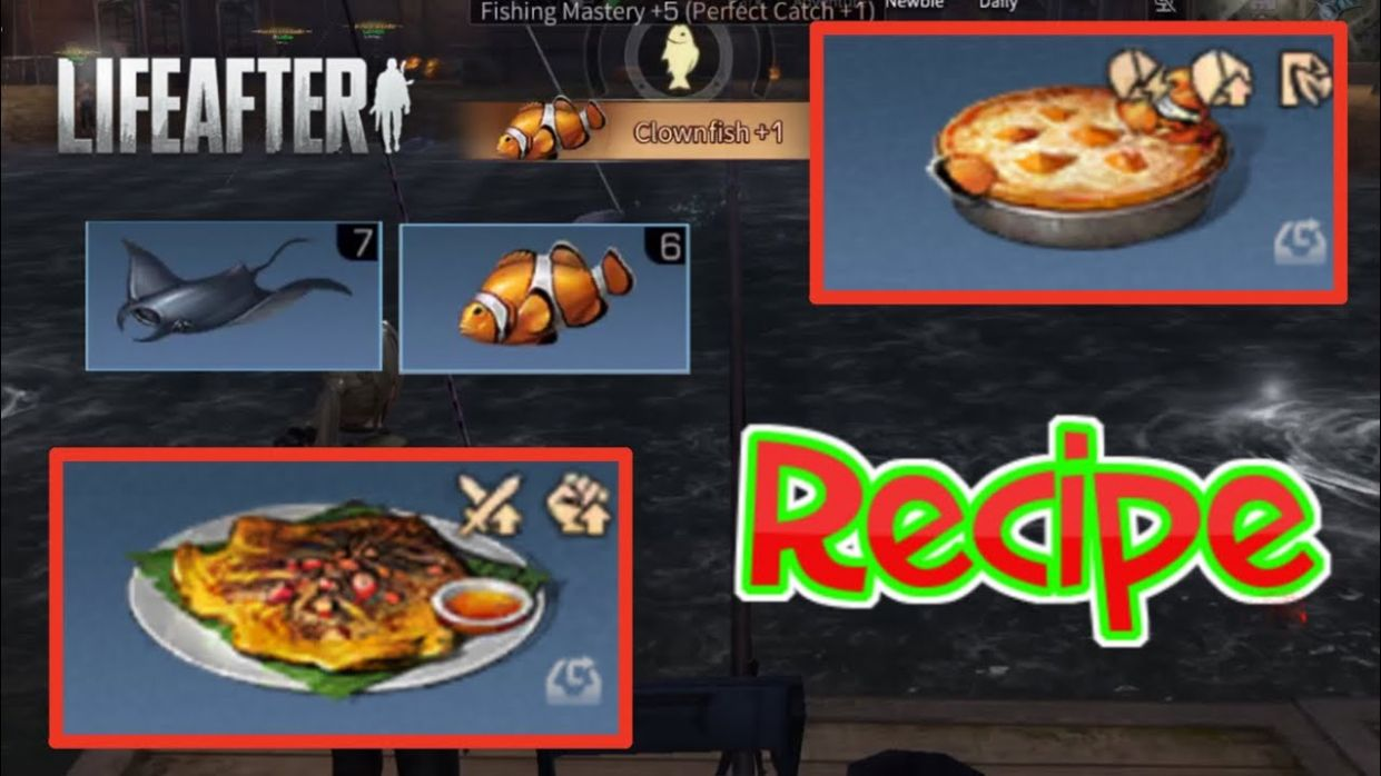 Pumpkin Clown Pie & Grilled Manto Ray RECIPES | How To Catch More Clown Fish & Manta Ray | LifeAfter - Cooking Recipes Lifeafter