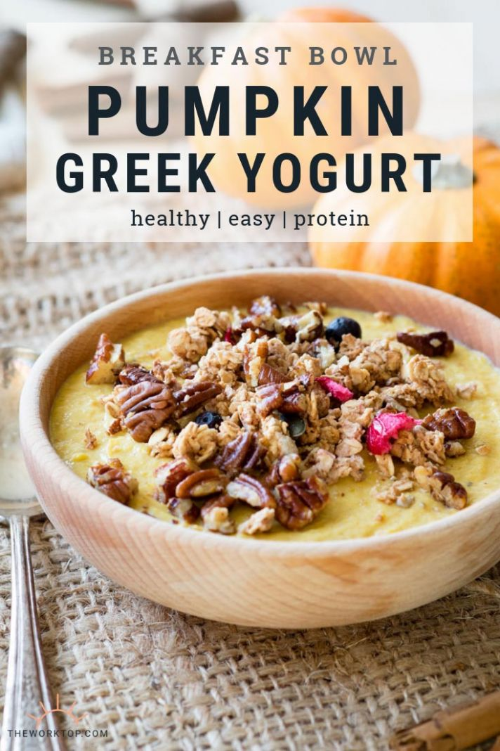 Pumpkin Greek Yogurt Breakfast Bowl (GF)