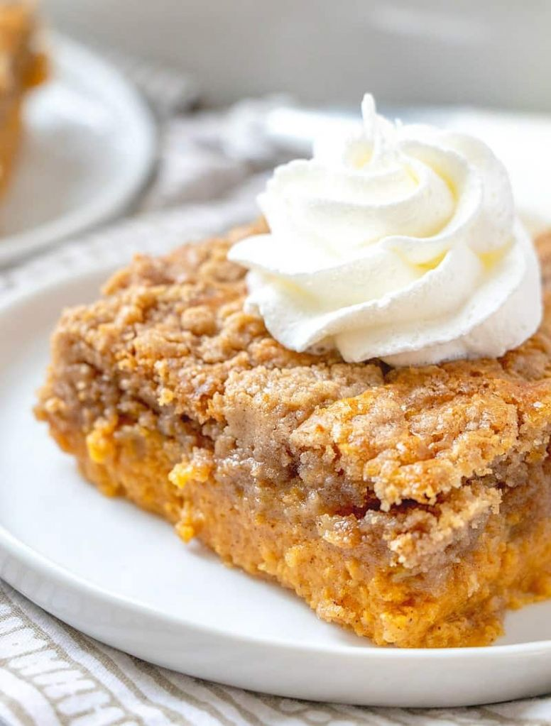 PUMPKIN PIE DUMP CAKE - Recipes Dump Cake