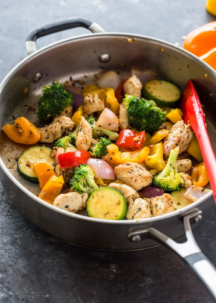 Quick 11 Minute Stir-Fry Chicken and Veggies