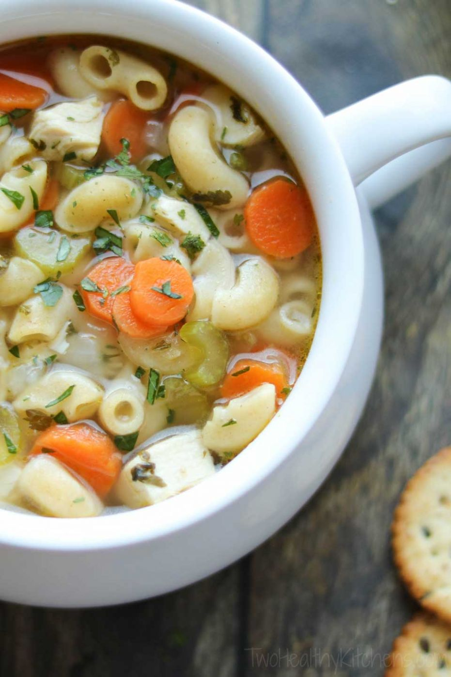 Quick & Easy Chicken Noodle Soup with Rotisserie Chicken - Two ..
