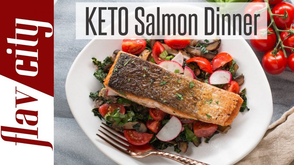 Quick & Easy Keto Diet Recipe For Weight Loss - Low Carb Salmon Recipe