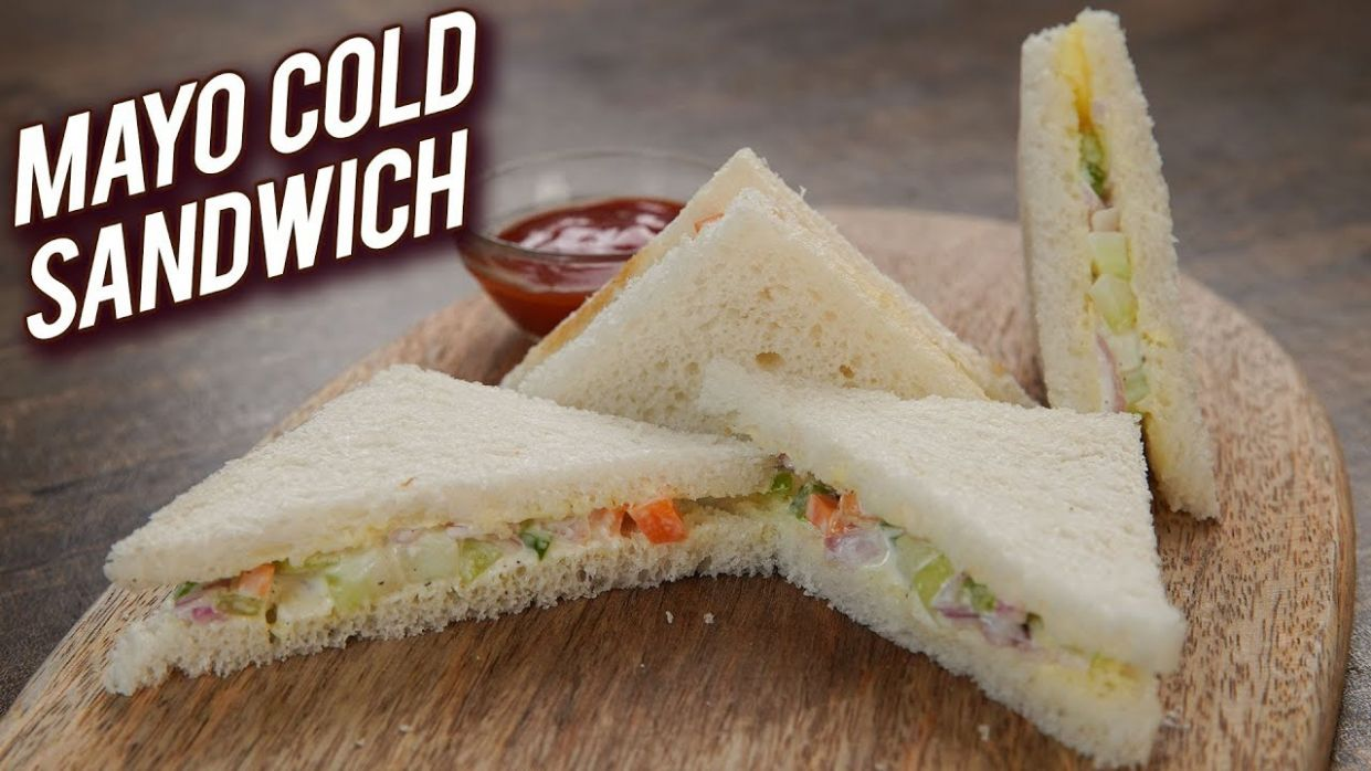 Quick & Easy Sandwich Recipe - Mayonnaise Cold Sandwich Recipe - Veg Mayo  Sandwich - Bhumika - Sandwich Recipes Mayonnaise