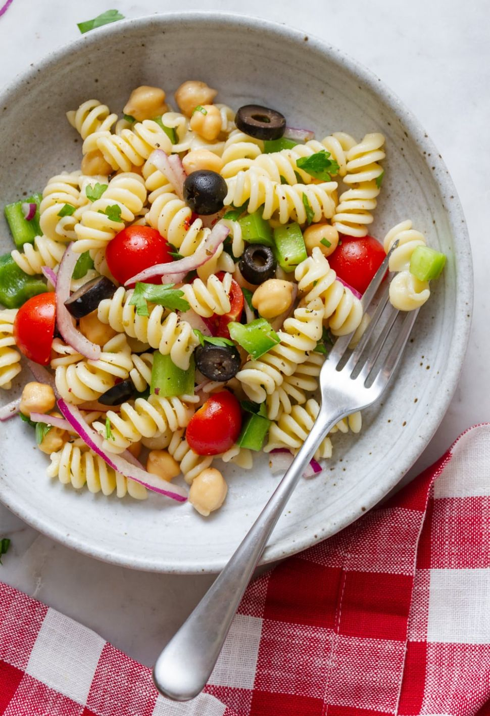 QUICK & EASY VEGAN PASTA SALAD - Salad Recipes Veg For Dinner