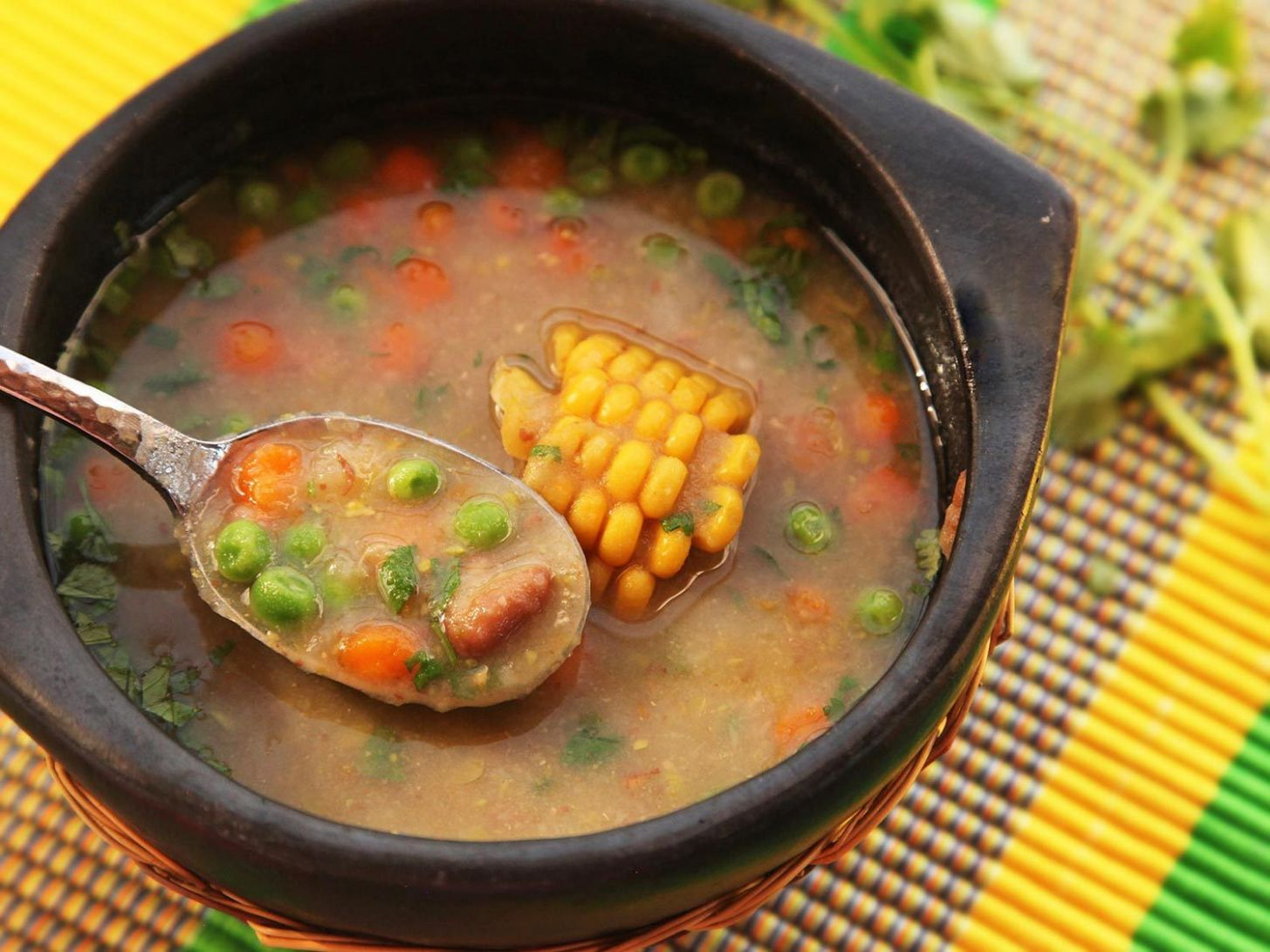 Quick and Easy Dairy- and Fat-Free Colombian Vegetable Soup (Ajiaco Negro)  Recipe