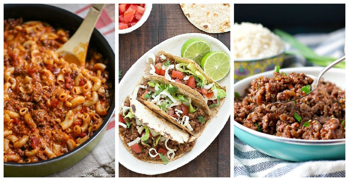 Quick and Easy Ground Beef Recipes - Family Fresh Meals - Summer Recipes Ground Beef