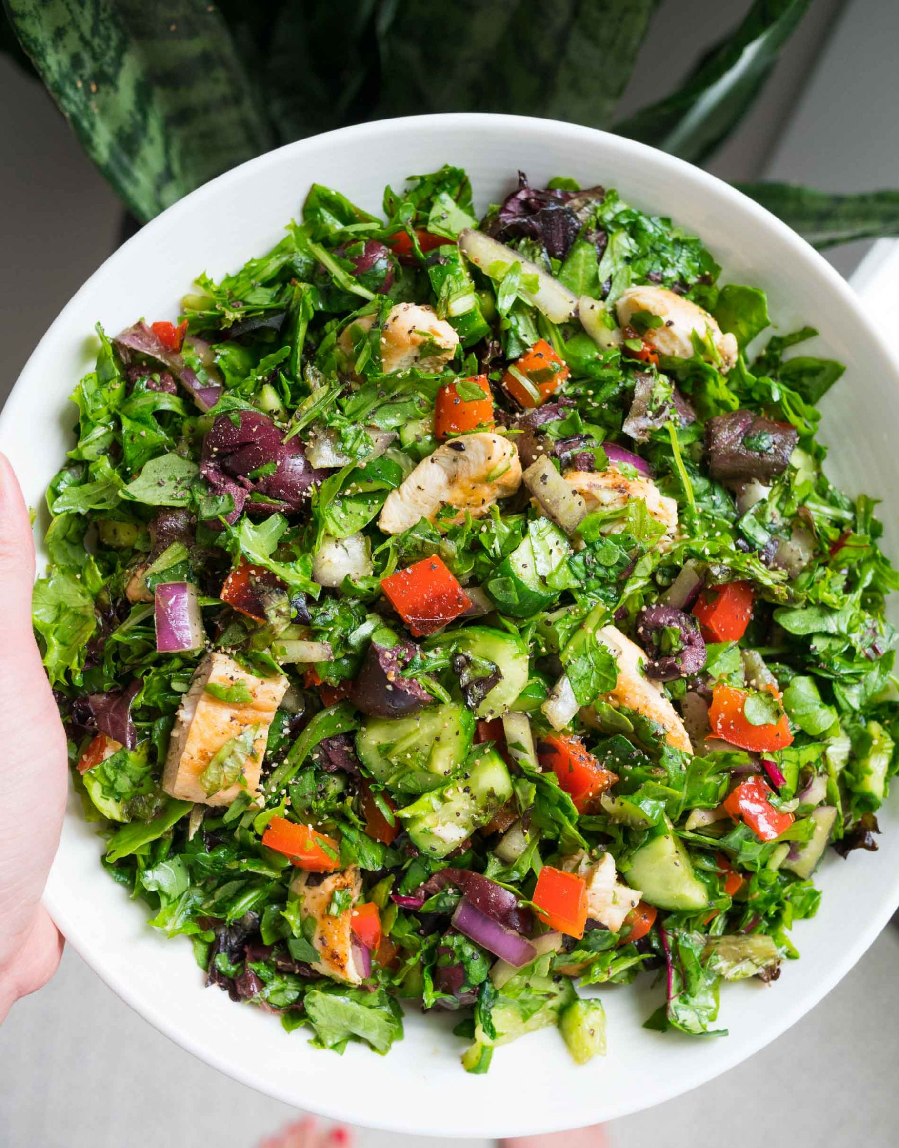 Quick Basic Chopped Salad - Easy Salad Recipe with Lots of Flavor - Salad Recipes You Can Make At Home