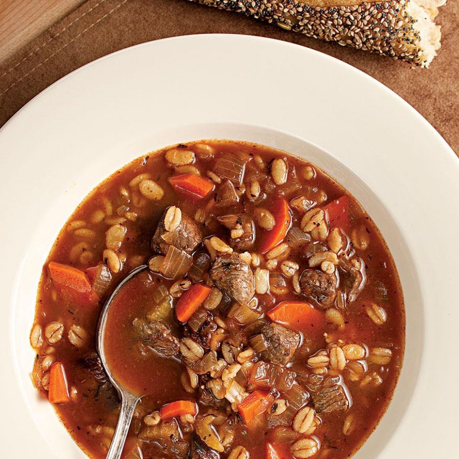 Quick Beef & Barley Soup - Recipes Beef And Barley Soup