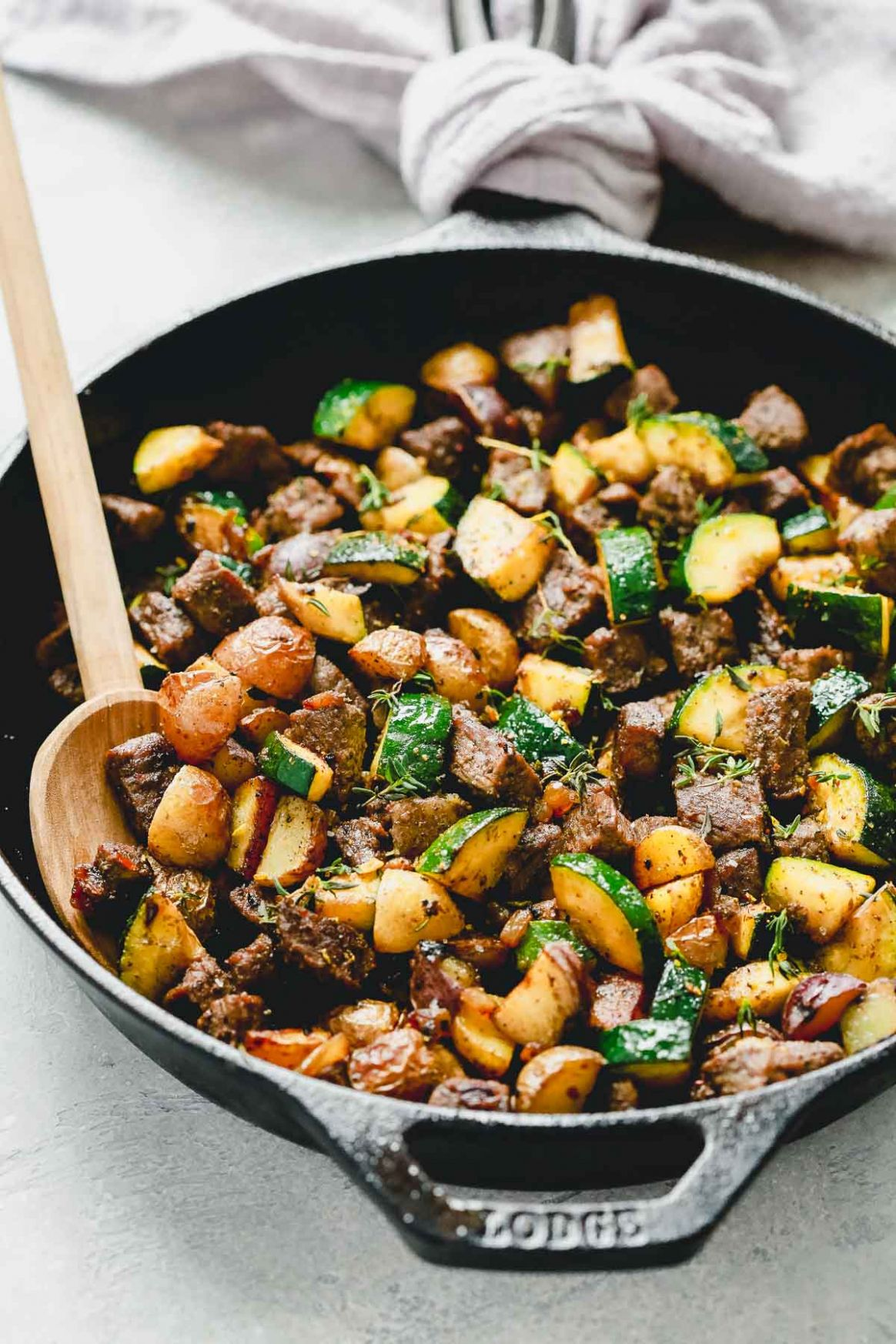 Quick Beef and Zucchini Skillet (Meal-Prep) - Beef Recipes Quick