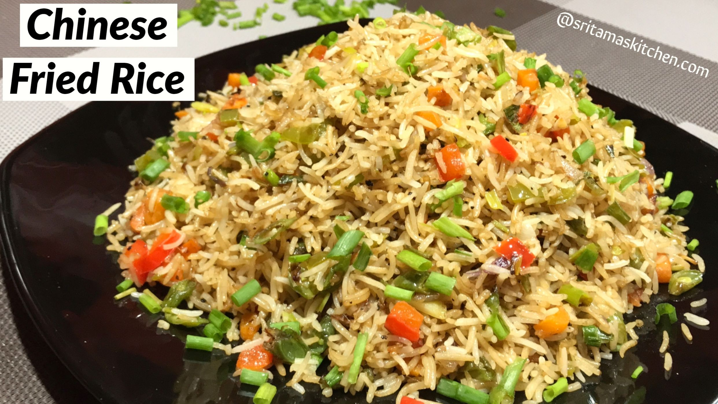 Quick Chinese Fried Rice Recipe In Hindi-Chinese Fried Rice-How to ..
