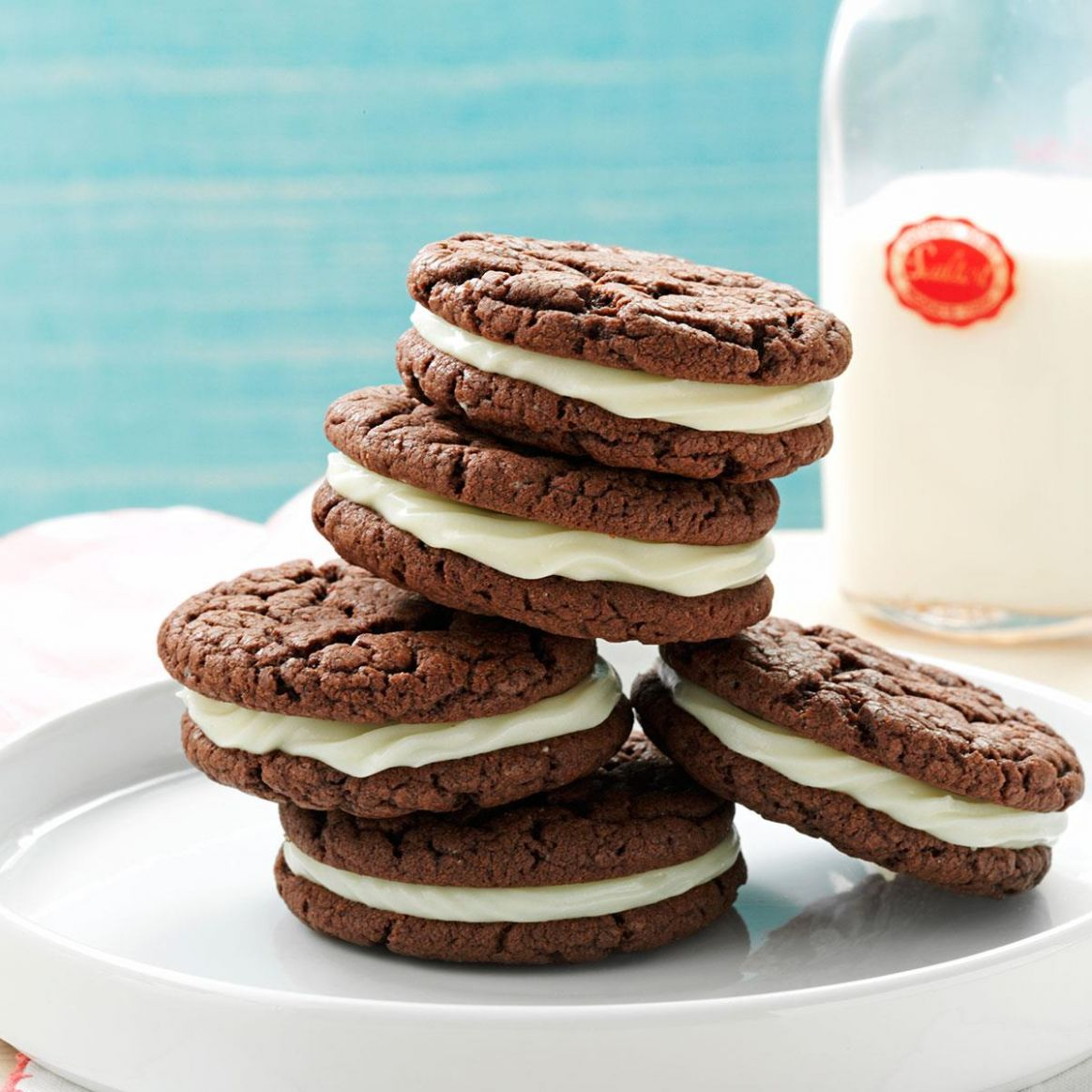 Quick Chocolate Sandwich Cookies - Chocolate Recipes Quick