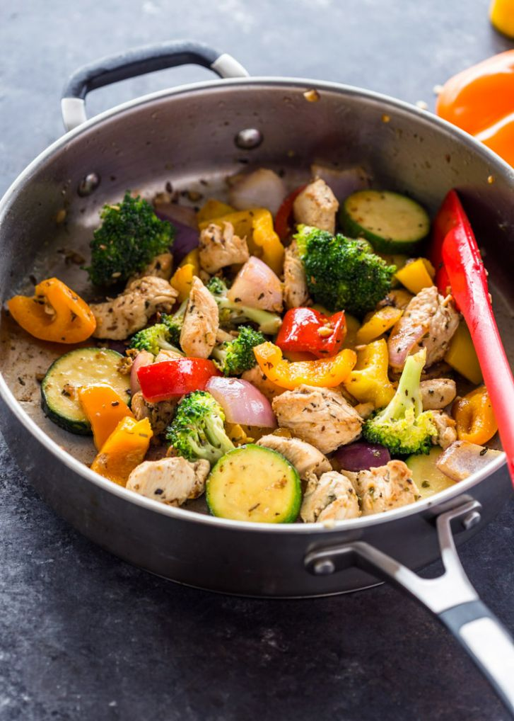 Quick Healthy 11 Minute Stir-Fry Chicken and Veggies | Gimme ...