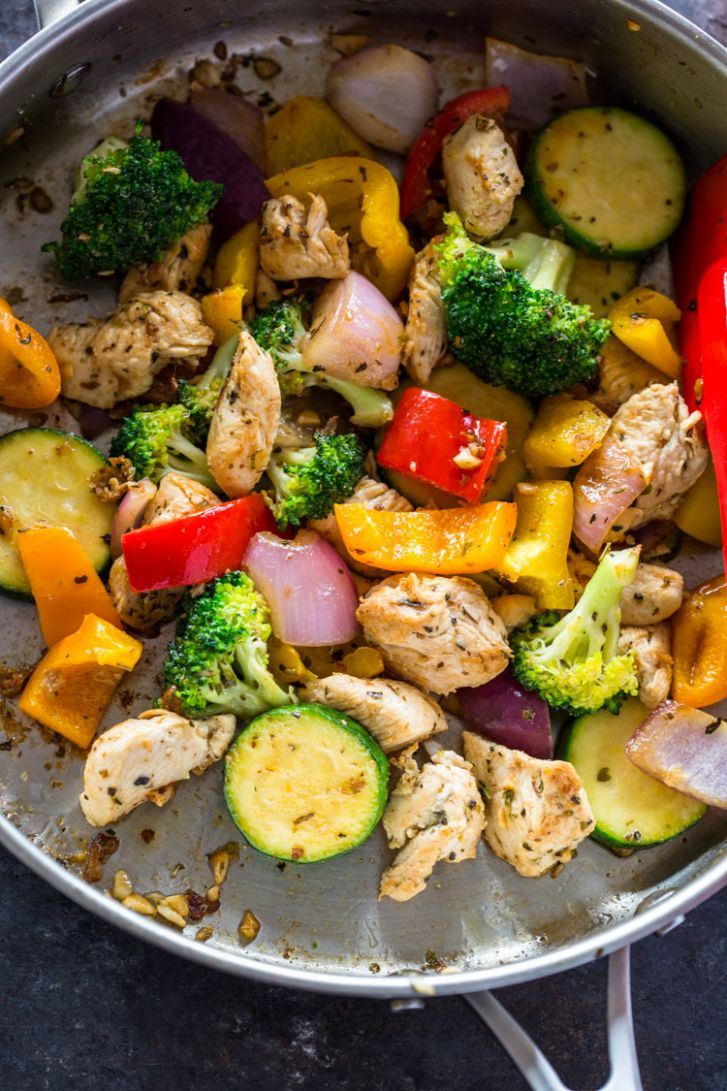 Quick Healthy 12 Minute Stir-Fry Chicken and Veggies | Gimme Delicious - Simple Recipes Healthy Dinner