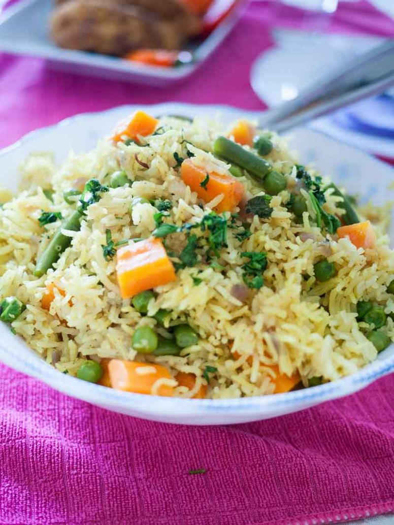 Quick One Pot Vegetable Rice Recipe - Recipes Rice With Vegetables