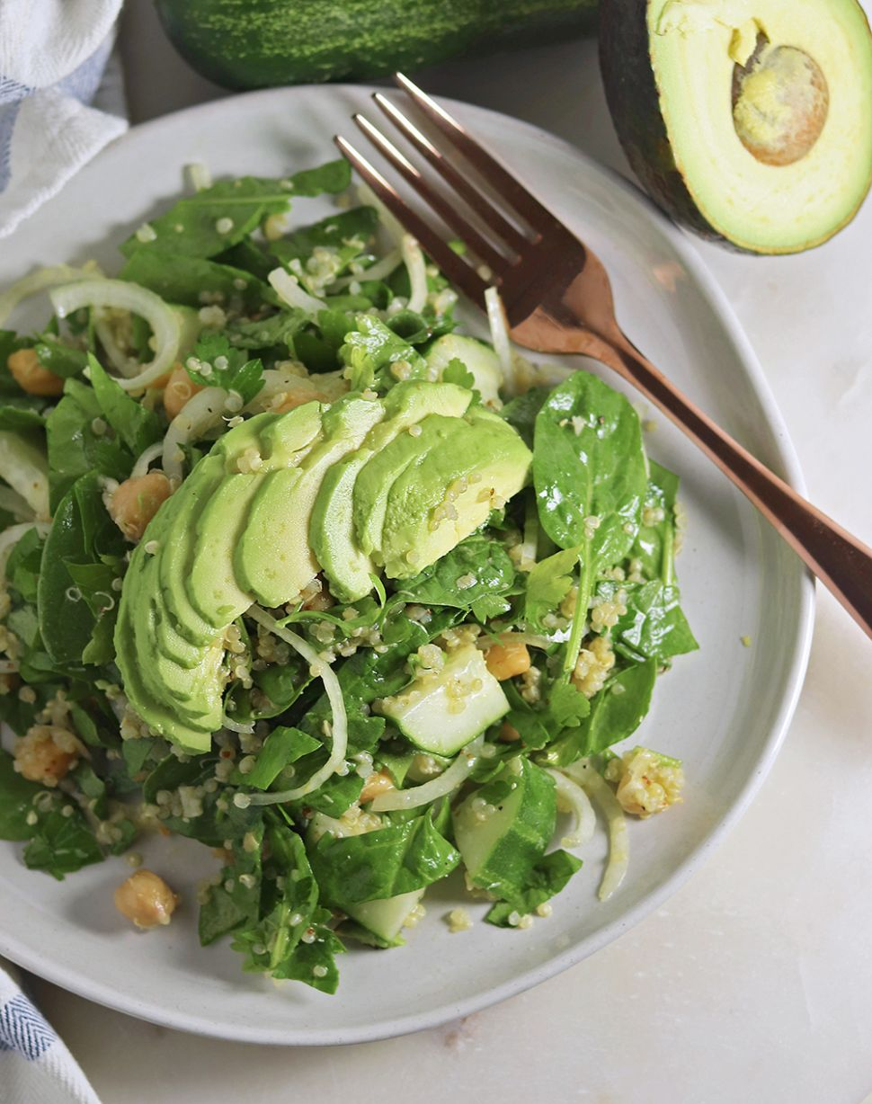 Quick Protein Packed Spinach Salad - Salad Recipes Leafy Green