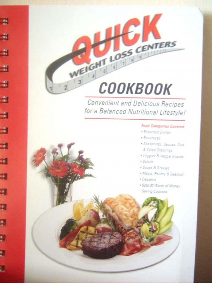 QUICK WEIGHT LOSS CENTERS COOKBOOK (10) SPRIAL BOUND: QUICK ..