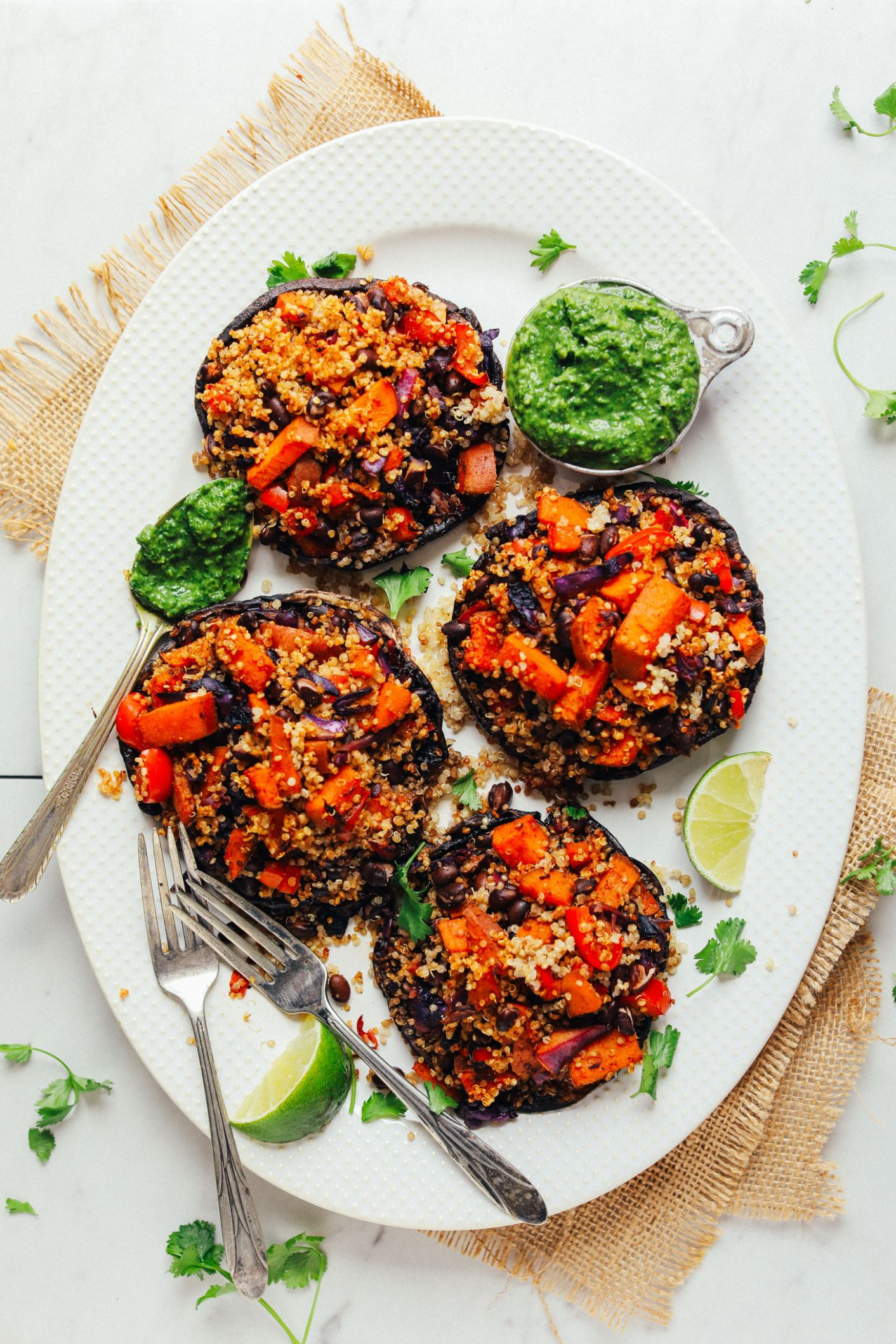 Quinoa & Vegetable Stuffed Portobello Mushrooms - Recipe Vegetarian Quinoa Stuffing