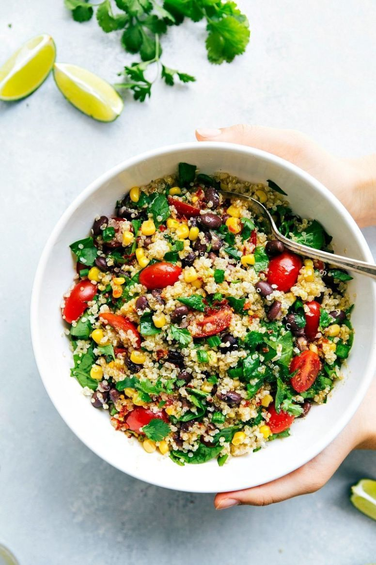 Quinoa Recipes: Healthy Quinoa & Veggie Salad - Dinner Recipes Quinoa