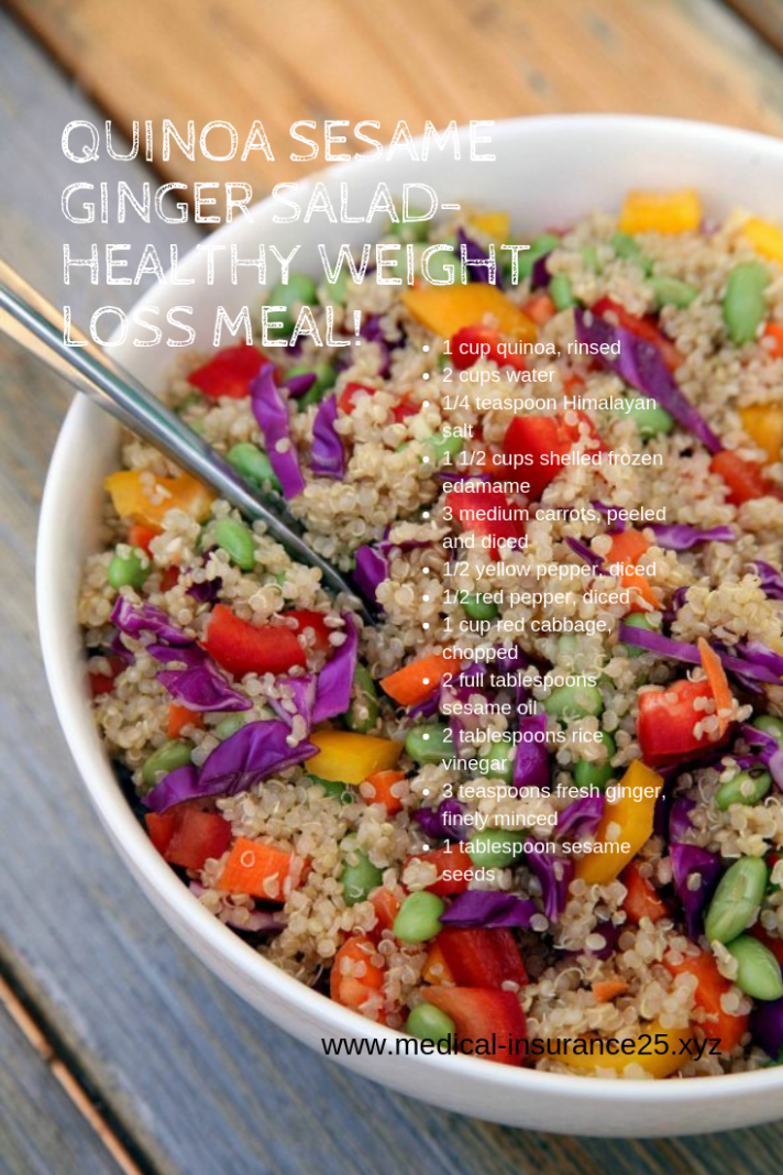 Quinoa Sesame Ginger Salad-Healthy Weight Loss Meal! | Cook this ..
