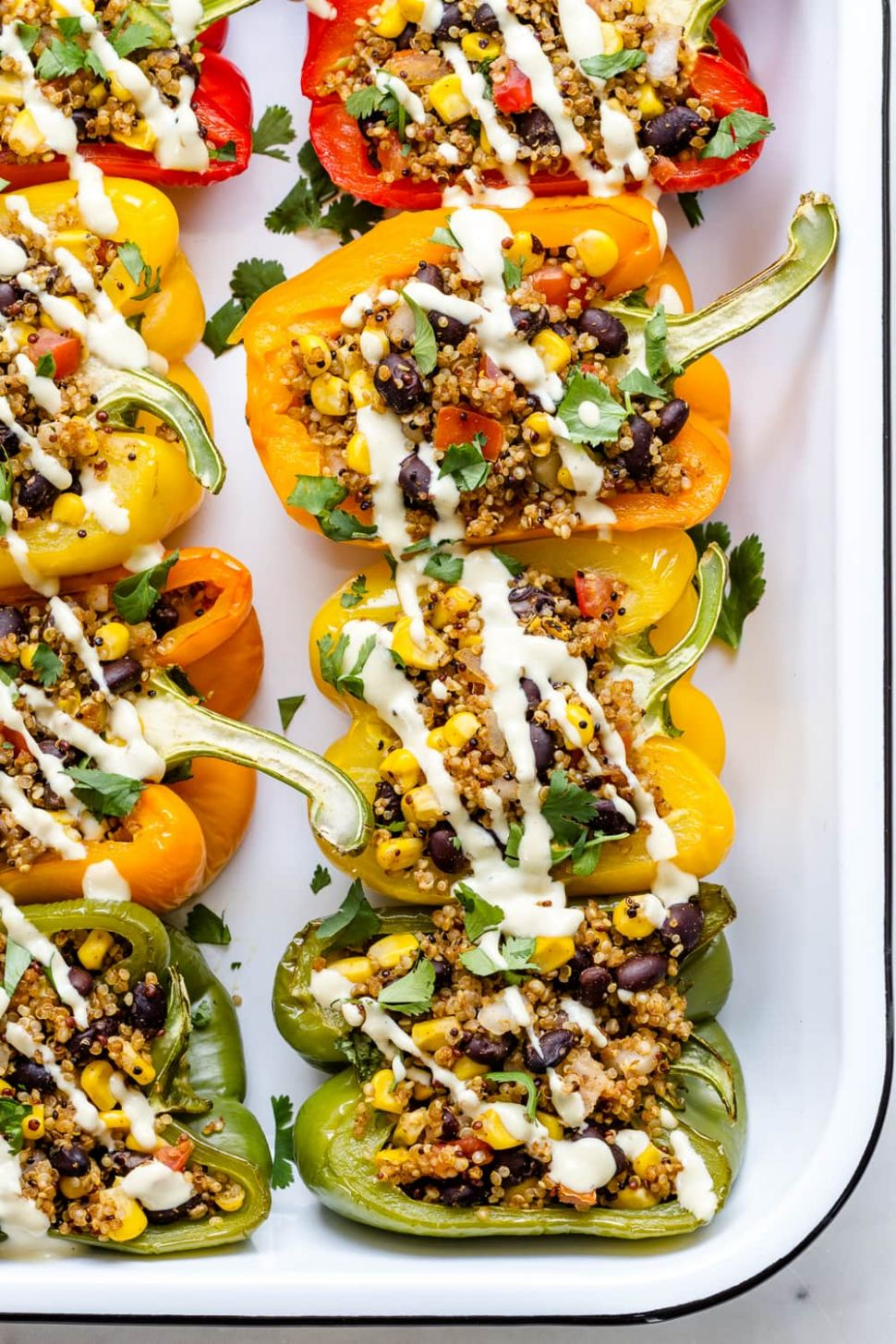 QUINOA STUFFED PEPPERS - Recipe Vegetarian Quinoa Stuffing