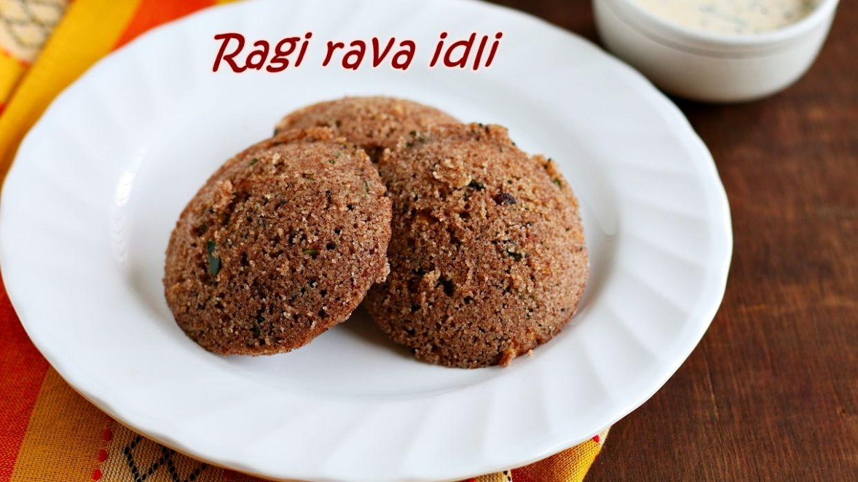 Ragi rava idli recipe | Easy breakfast recipes - Jeyashri's Kitchen