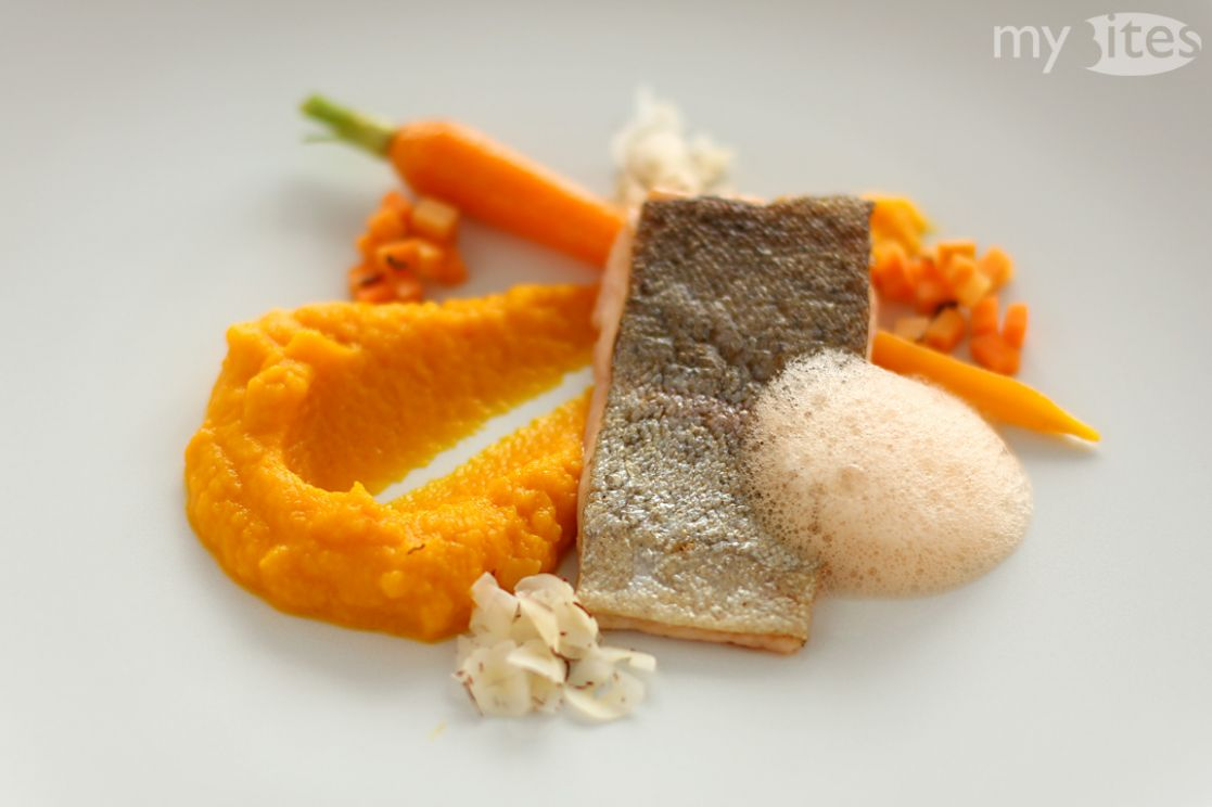 Rainbow Trout with Carrots - Recipe Fish Orange