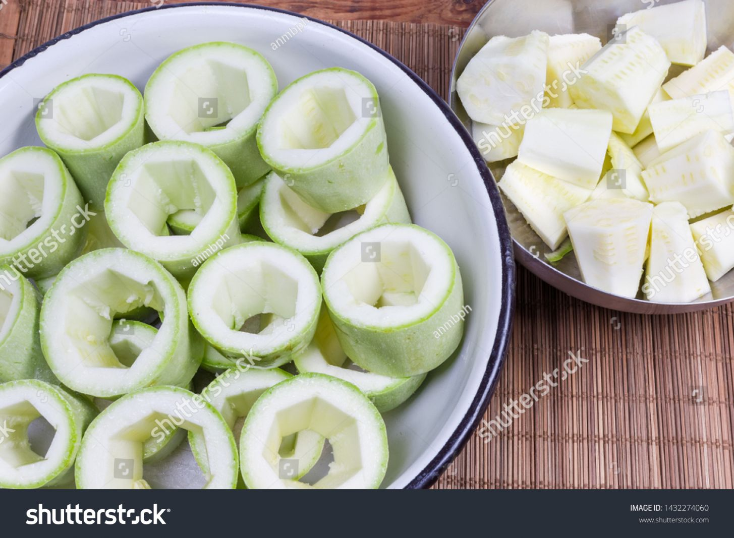 Raw Pieces Vegetable Marrows Removed Central Stock Photo (Edit Now ...