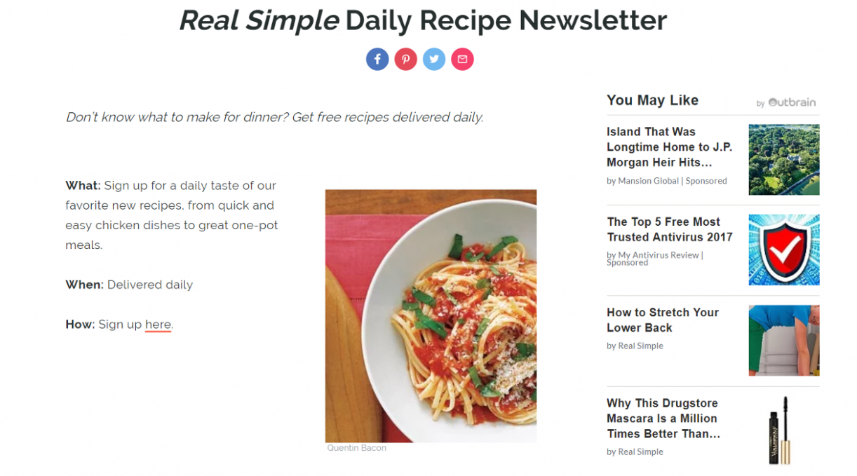 Real Simple Daily Recipe - Free recipes delivered daily | InboxReads