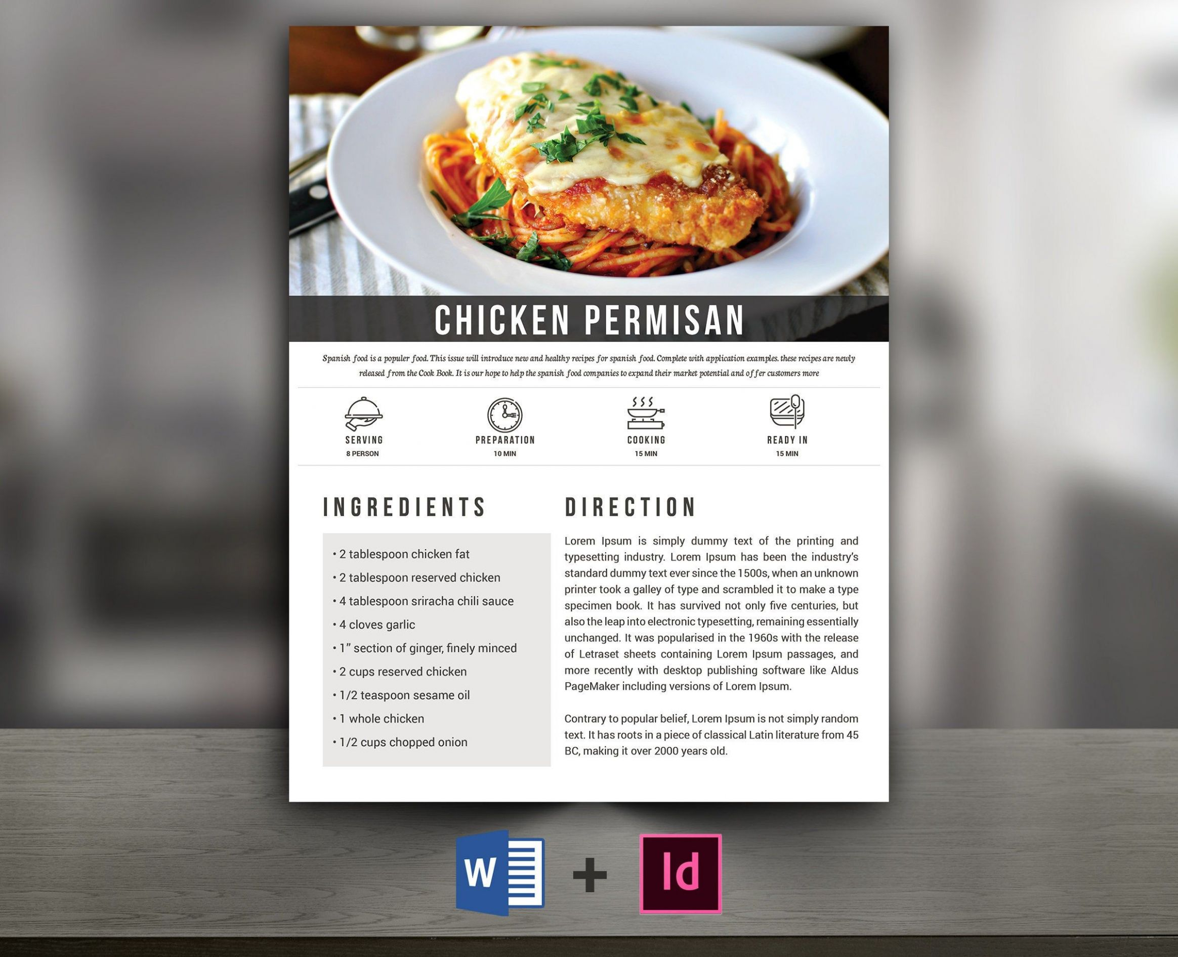 Recipe Book Template | Cookbook template | Editable Recipe Book ...